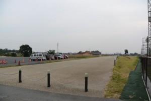 再現された15m道路(近鉄山田線沿線、斎宮駅付近)