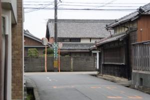 斎宮跡、方格地割の外周道路(西側)、旧家永島家
