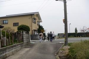 斎宮跡、方格地割の外周道路(北側→東側)