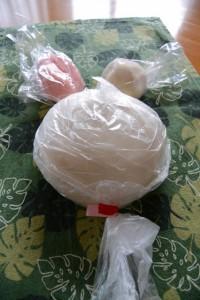 篠島餅まき(伊勢市神社港)でいただいた大小の餅