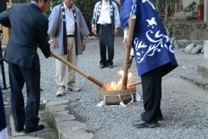 火入式(賀多神社御遷宮奉祝 奉納薪能)