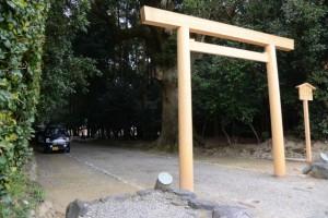 昨日に仮遷座を終えた神服織機殿神社(皇大神宮所管社)
