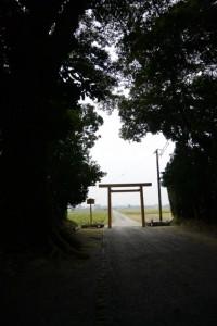 仮遷座を終え御造替が開始された神服織機殿神社(皇大神宮所管社)