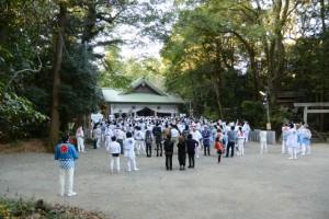 お木曳きを終えた松阪神社(松阪市殿町)