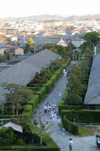 松阪神社式年遷座・お木曳きを終えて帰途につく参加者