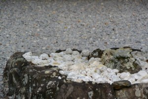 四至神の石畳に敷かれている石・(外宮 大庭)