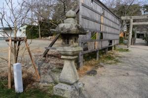 御遷座に先んじて準備された記念植樹(有田神社)