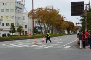 外宮北交差点(第47回全日本大学駅伝)