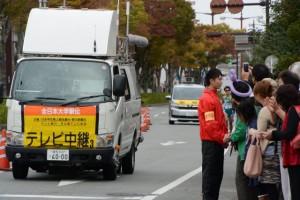 「テレビ中継3」車(第47回全日本大学駅伝)