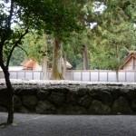 北御門参道から望む古殿地(外宮)