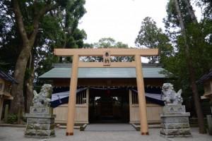 今夜に遷座祭が斎行される有田神社(伊勢市小俣町湯田)