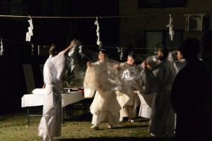 河邊七種神社の遷座祭、川原大祓の儀(八王子社跡)
