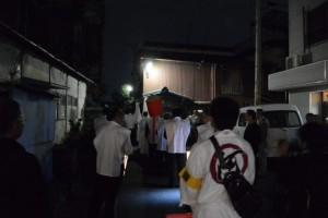 河邊七種神社の遷座祭、参進(八王子社跡付近)