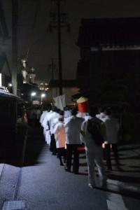 河邊七種神社の遷座祭、参進(河崎本通り)