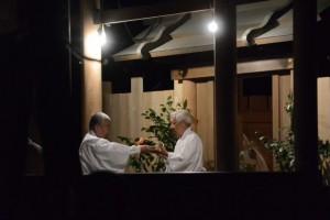 河邊七種神社の遷座祭、献饌