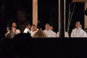河邊七種神社の遷座祭、玉串奉奠
