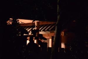 河邊七種神社の遷座祭、閉扉