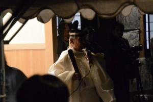 河邊七種神社の遷座祭、宮司挨拶