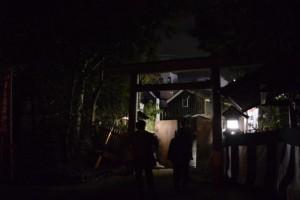 遷座祭のために閉鎖されていた西参道の解放(河邊七種神社)