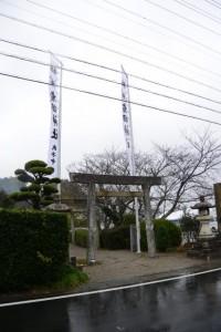 昨夜に遷座祭を終えた有田神社(伊勢市小俣町湯田)