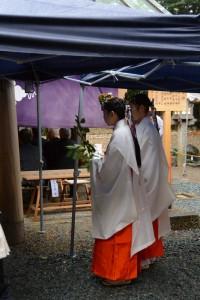 御神遷 奉祝祭、舞女による舞(河邊七種神社)