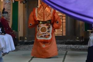 御神遷 奉祝祭、舞楽 蘭陵王(河邊七種神社)