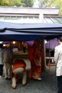 御神遷 奉祝祭、日本舞踏 鶴亀(河邊七種神社)