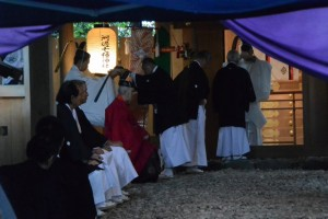 御神遷 奉祝祭、撤饌(河邊七種神社)