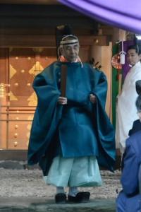 御神遷 奉祝祭、宮司挨拶(河邊七種神社)