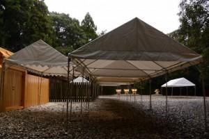 雨儀廊が設置されていた神服織機殿神社(皇大神宮所管社)