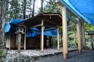 鳥居ほかが建て替えられた船木神社(度会郡大紀町船木)