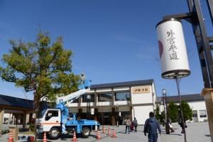 伊勢市駅前広場(JR側)
