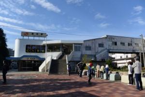 文学ツアー(鳥羽の文学散歩と・・・)の集合場所(JR鳥羽駅前)