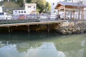 妙慶川に残る石垣(相橋付近)