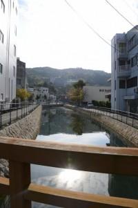 相橋から望む妙慶川の上流側