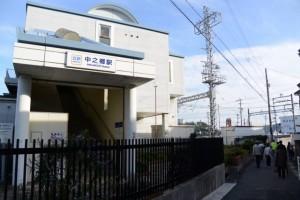 近鉄中之郷駅付近