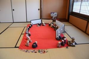 南部美智代古布人形展-ほのぼのとした結婚式(鳥羽 大庄屋かどや)