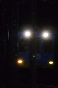 赤崎神社付近のトンネルから出てきた近鉄 観光列車つどい