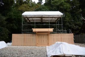 すべての社殿が解体された神麻続機殿神社の瑞垣内