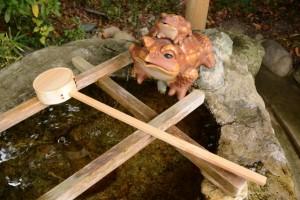 日常とは異なる特別な柄杓、箕曲神社(伊勢市小木町)