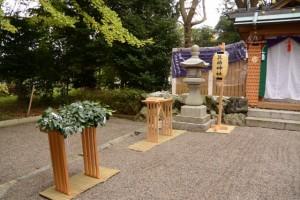 新嘗祭の準備、箕曲神社(伊勢市小木町)