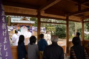 新嘗祭を終えて、箕曲神社(伊勢市小木町)