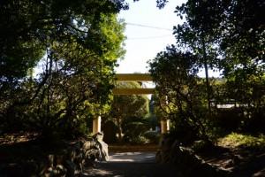 遷座祭を終えた磯神社(伊勢市磯町)