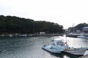 波切神社の鳥居遠望(波切漁港)