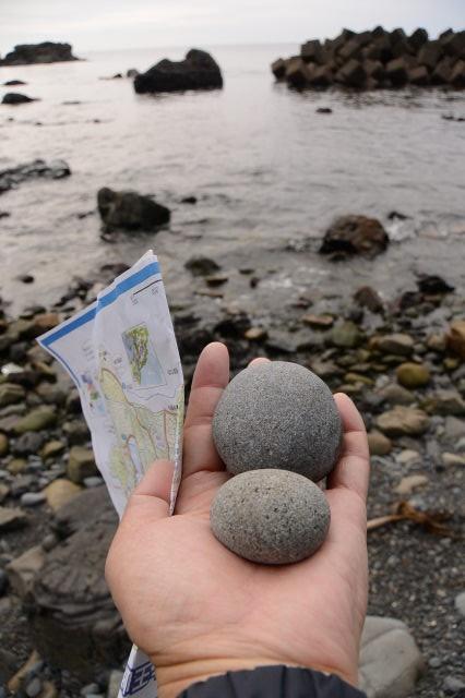 はせどの浜での丸い石探し(大王町波切)