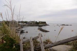 (17)山の神付近から宝門の浜方向の遠望