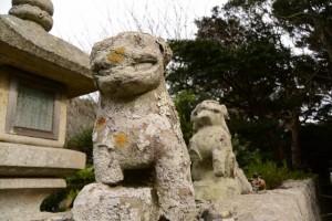 狛犬(波切神社)