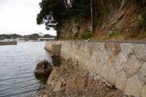波切漁港の石積み
