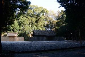 二日前に遷御を終えた神麻続機殿神社、八尋殿