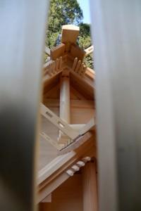 二日前に遷御を終えた神麻続機殿神社、同社末社八所
